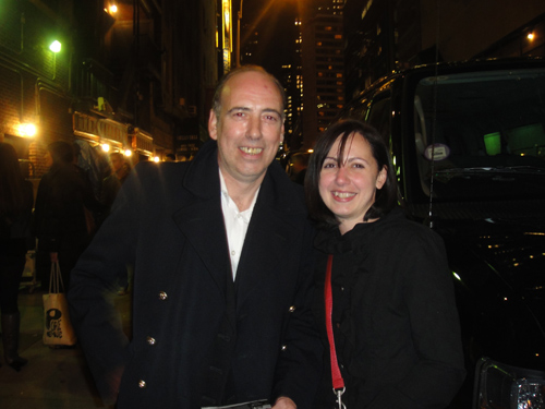 Shan with the one, the only, Mr. Mick Jones after the Gorillaz Live on Letterman taping (photo by Ady)