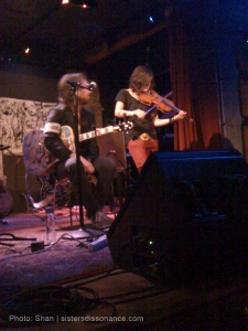 Emily Wells on stage with Joseph Arthur, Sept 2009